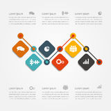 Infographic design template. Vector illustration. Royalty Free Stock Photo