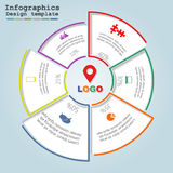 Infographic design template. Vector illustration. Eps 8 Royalty Free Stock Photos