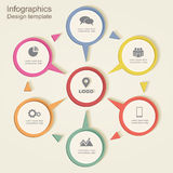 Infographic design template. Vector illustration. Eps 8 Stock Image