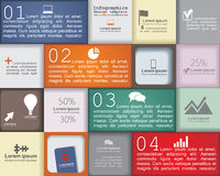 Infographic design template. Vector illustration. Infographic design template with place for your content. Vector illustration Royalty Free Stock Photos