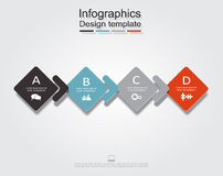 Infographic design template. Vector illustration. Infographic design template with place for your data. Vector illustration Royalty Free Stock Photography