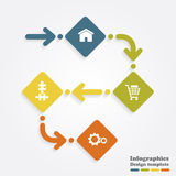 Infographic design template. Vector illustration Royalty Free Stock Images