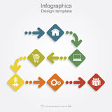 Infographic design template. Vector illustration Stock Images