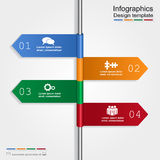 Infographic design template. Vector illustration Royalty Free Stock Photos