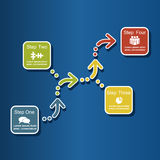 Infographic design template. Vector illustration Stock Photos