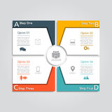 Infographic design template. Vector illustration. Infographic design template with place for your data. Vector illustration Royalty Free Stock Photo