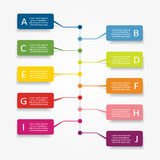 Infographic design template. Vector illustration. Stock Photos