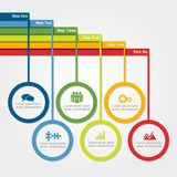 Infographic design template. Vector illustration. Royalty Free Stock Image