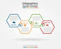 Infographic design template. Vector illustration. Stock Images