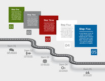 Infographic design template. Vector illustration. Stock Photography