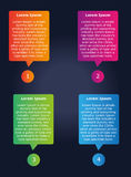 Infographic design template. For web design and any project Royalty Free Stock Image