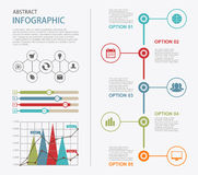 Infographic design templates. Presentation abstract page Royalty Free Stock Images
