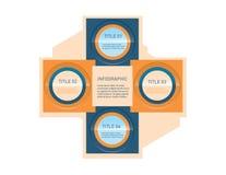 Infographic-Design templete 4 Titel Stockfotos
