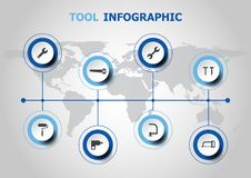 Infographic design with tool icons Royalty Free Stock Photos