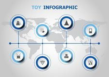 Infographic design with toy icons Stock Photo