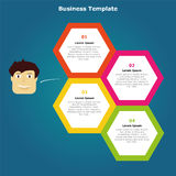Infographic design vector. Can be used for workflow layout, annual report and others Stock Photo