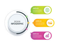 3 infographic design vector and marketing icon.Can be used for w Royalty Free Stock Image