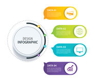 4 infographic design vector and marketing icon.Can be used for w Royalty Free Stock Photos