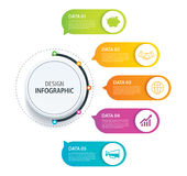 5 infographic design vector and marketing icon.Can be used for w Stock Images