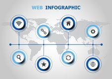 Infographic design with web icons Royalty Free Stock Photography