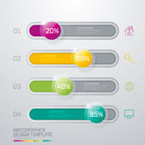 Infographic design white circles. On the grey background. Eps 10 vector file Stock Photos