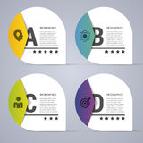 Infographic design white circles on the grey background. Modern vector illustration Royalty Free Stock Images