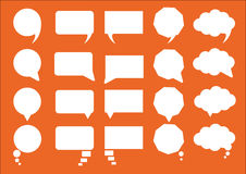 Infographic design. With white communication bubbles on the orange background. Eps 10 vector file stock illustration