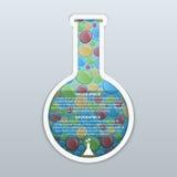 Infographic designbegrepp för kemikalie och för vetenskap vektor illustrationer