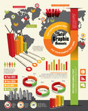 Infographic designbeståndsdelar Royaltyfri Fotografi