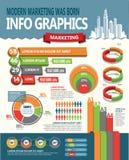 Infographic designbeståndsdelar Fotografering för Bildbyråer