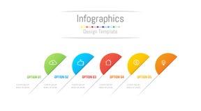Infographic designbeståndsdelar för dina affärsdata med 5 alternativ Royaltyfri Fotografi