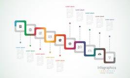 Infographic designbeståndsdelar för dina affärsdata med 10 alternativ Royaltyfri Bild