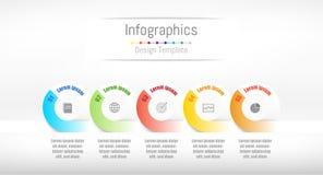 Infographic designbeståndsdelar för dina affärsdata med 5 alternativ Arkivfoton