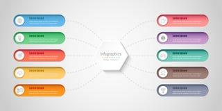 Infographic designbeståndsdelar för dina affärsdata med 10 alternativ Arkivfoto