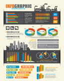 Infographic designbeståndsdelar Royaltyfri Bild