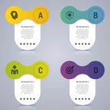 Infographic designmall Affärsidé med 4 alternativ, delar också vektor för coreldrawillustration Royaltyfria Bilder