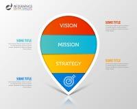 Infographic designmall Affärsidé med 4 moment Royaltyfri Bild