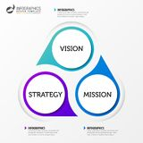 Infographic designmall Affärsidé med 3 moment Royaltyfri Foto