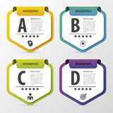 Infographic designmall Affärsidé med 4 alternativ, delar också vektor för coreldrawillustration Royaltyfria Foton
