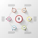 Infographic designmall Färgrikt begrepp vektor Fotografering för Bildbyråer