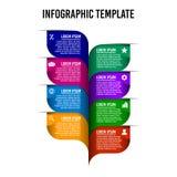 Infographic designmall för blad vektor illustrationer