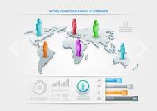 Infographic designmall för folk Royaltyfri Fotografi