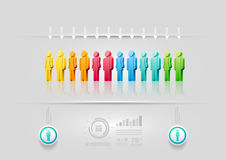 Infographic designmall för folk Fotografering för Bildbyråer
