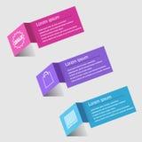 infographic designmall för origami 3D Arkivbild