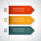 Infographic designmall för pil vektor vektor illustrationer