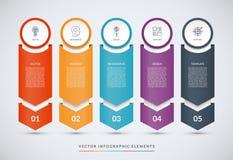 Infographic designmall för vektor royaltyfri illustrationer