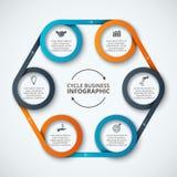 Infographic designmall för vektor Royaltyfria Bilder