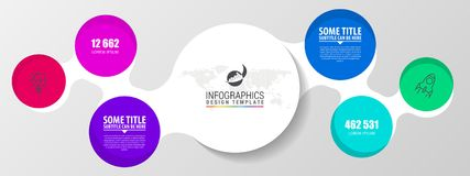 Infographic designmall Idérikt begrepp med 2 moment Arkivfoton