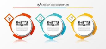 Infographic designmall Idérikt begrepp med 3 moment Royaltyfria Bilder