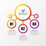 Infographic designmall Idérikt begrepp med 3 moment Arkivbilder